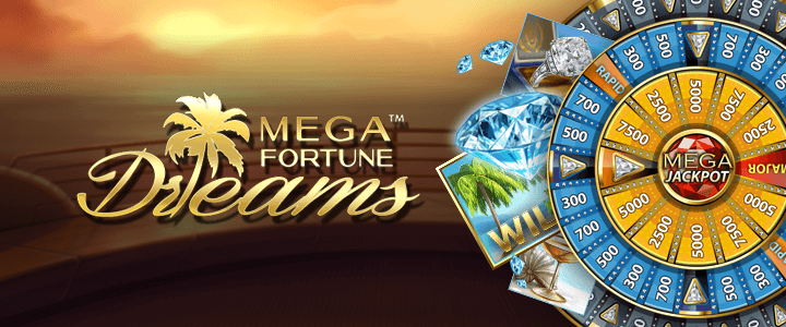 An image of the Mega Fortune Dreams Banner