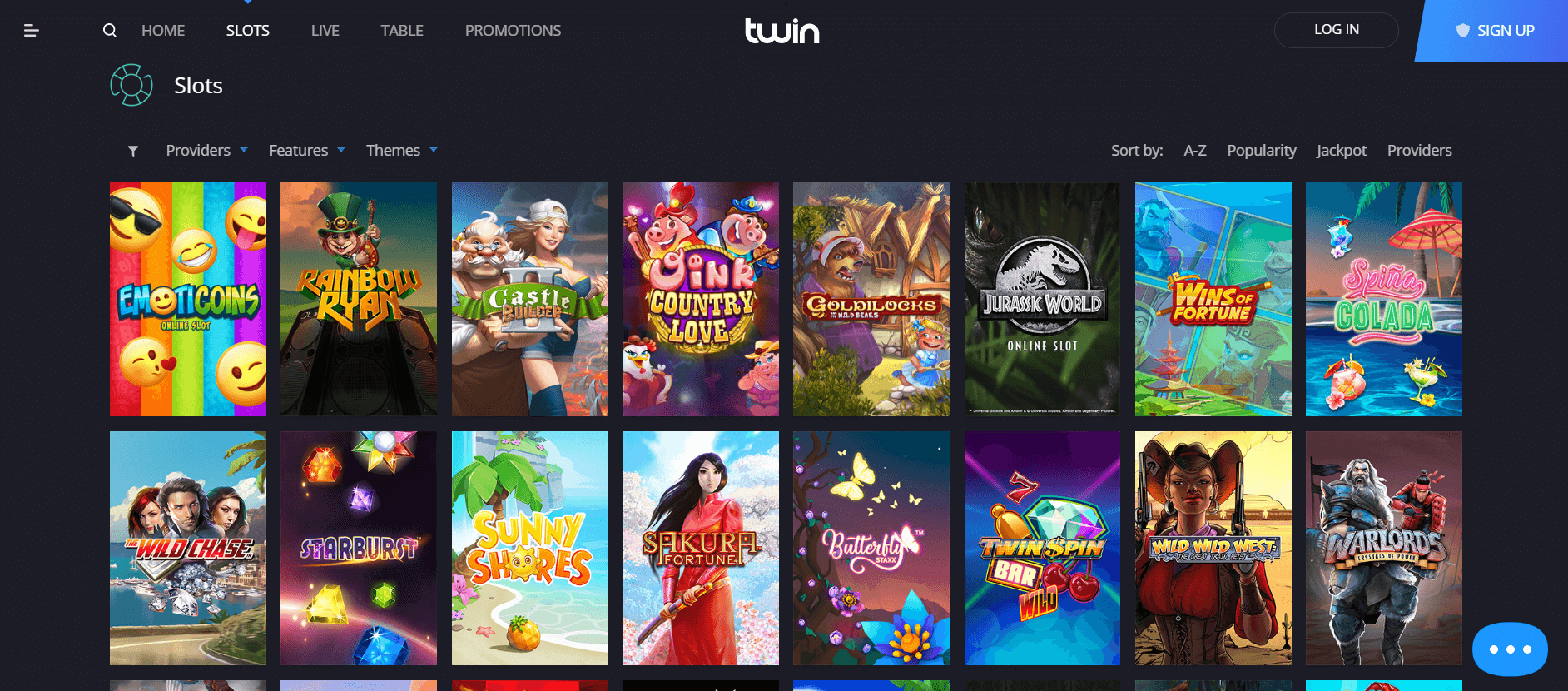 An image of twin casino games