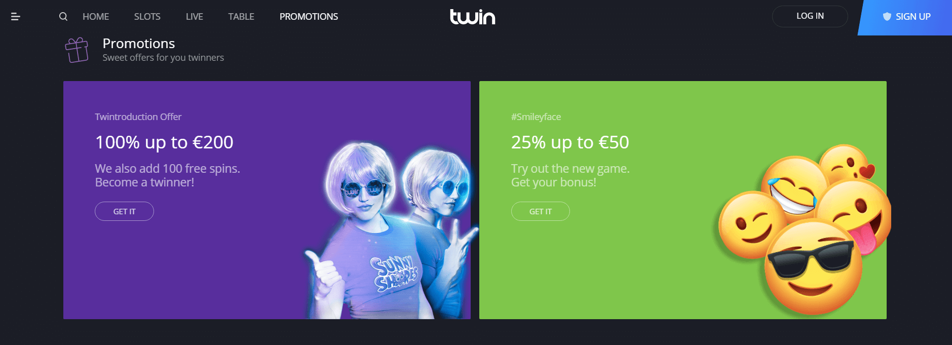 An image of twin casino promotions