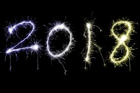 image of 2018 in lights colors sparkles
