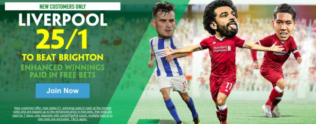 Liverpool vs Brighton - Sat 25th Aug