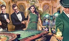 Image of Mr Green, casino floor with table and slot machines at the back