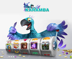 Image of Karamba blue bird behind a slot wheel